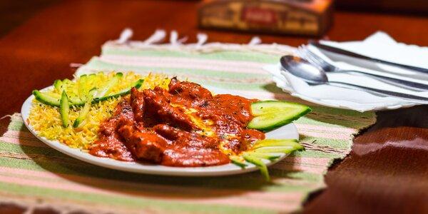 Chicken Tikka Masala s bashmati ryžou v Little India