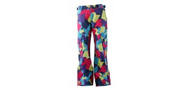 Pánske pestrofarebné športové nohavice Fundango s membránou a potlačou