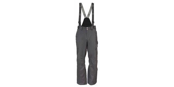 Pánske tmavo šedé športové nohavice Fundango s membránou