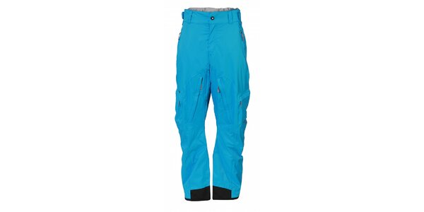 Pánske žiarivo modré športové nohavice Fundango s membránou