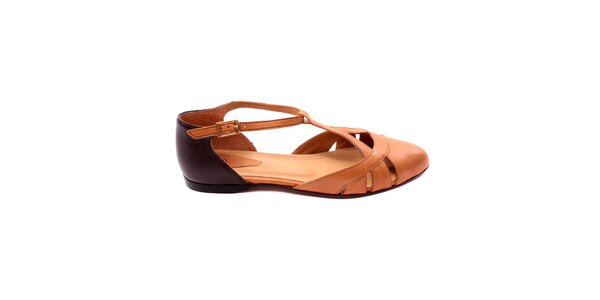Dámske koňakovo-hnedé zatvorené sandálky Bagatt