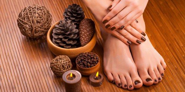 Pedikúra s masážou a gél lakom alebo gél lak manikúra