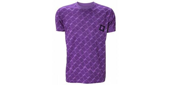 Pánske purpurové tričko Fundango s potlačou