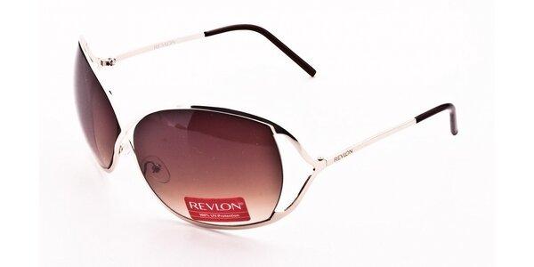 Dámske strieborné slnečné okuliare Revlon