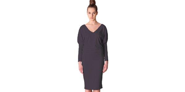 Dámske tmavo šedé šaty Yuliya Babich
