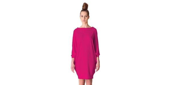 Dámske čerešňovo-ružové šaty tulipánového strihu Yuliya Babich