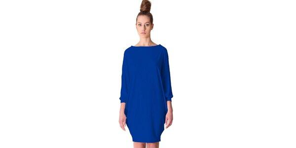 Dámske kobaltovo modré šaty tulipánového strihu Yuliya Babich