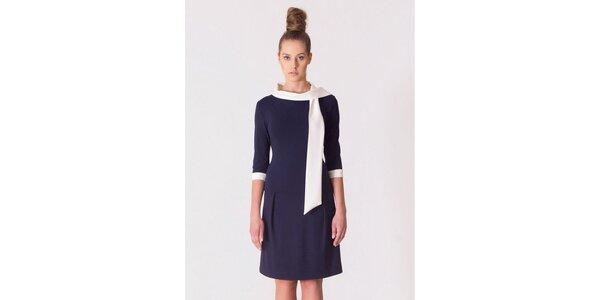 Dámske modro-biele retro šaty Yuliya Babich