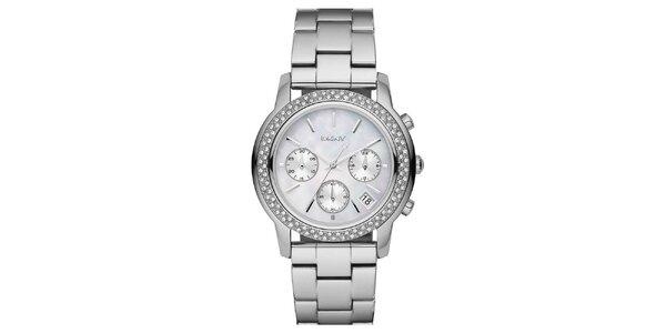 Dámske oceľové hodinky DKNY s kamienkami