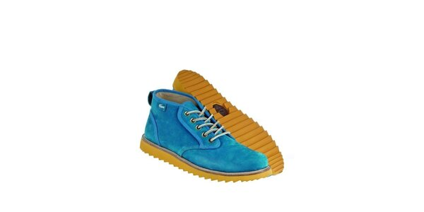 Pánske modré kožené boty Lacoste