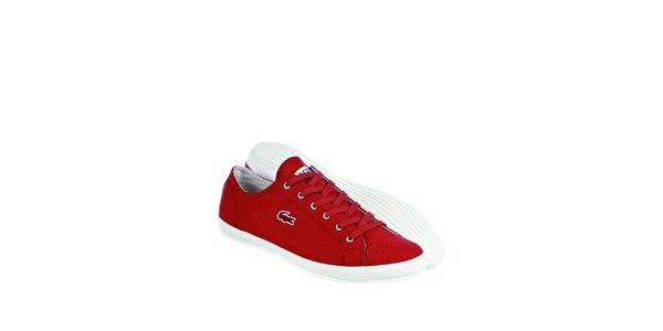 Pánske červené tenisky Lacoste