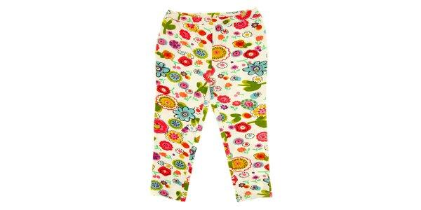 Detské pestré kvetované nohavice Peace&Love