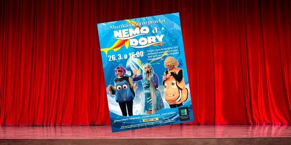 Vstupenka na muzikálovú rozprávku Nemo a Dory