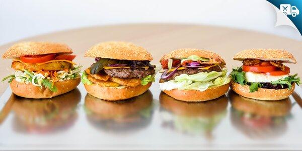 4 druhy chutných burgerov - aj na donášku!