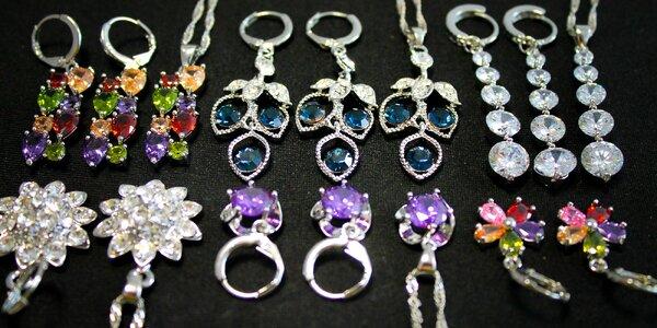 Strieborné náušnice a náhrdelník s príveskom