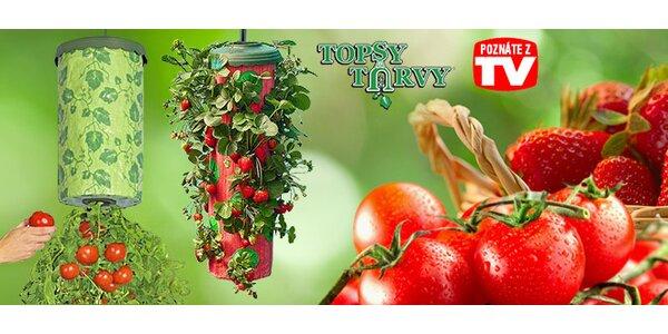Topsy Turvy na domáce pestovanie jahôd a rajčín
