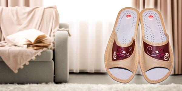 Pohodlné dámske papuče