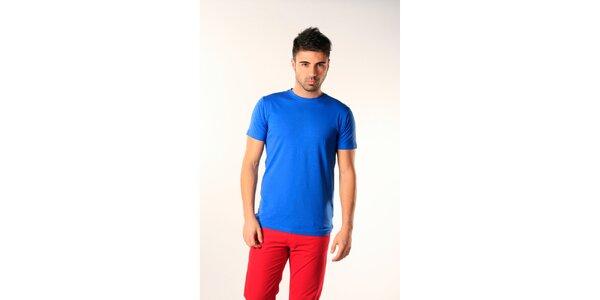 Pánske modré tričko s krátkym rukávom SixValves