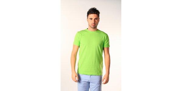 Pánske zelené tričko s krátkym rukávom SixValves