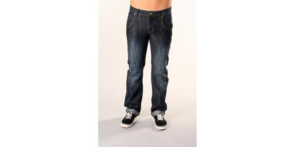 Pánske tmavo modré džínsy SixValves
