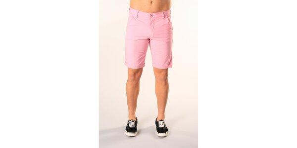 Pánske svetlo ružové bermudy SixValves