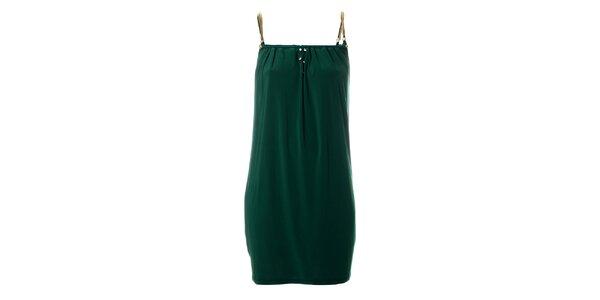 Dámske tmavo zelené šaty Via Bellucci