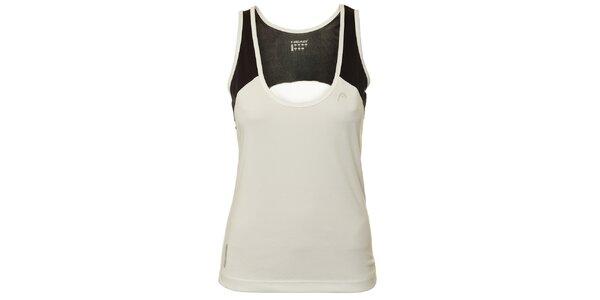 Dámske čierno-biele tričko bez rukávov Head