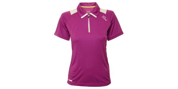 Dámske fialové tenisové tričko s bielymi detailami Head