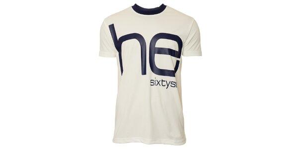 Pánske biele tričko s modrým nápisom Head