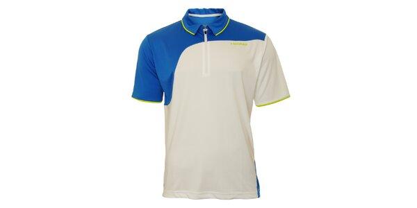 Pánske modro-biele tenisové tričko Head