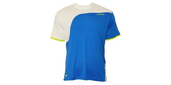 Pánske modro-biele športové tričko Head