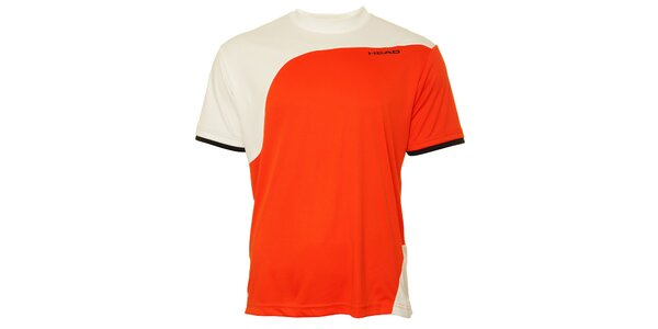 Pánske korálovo-biele športové tričko Head