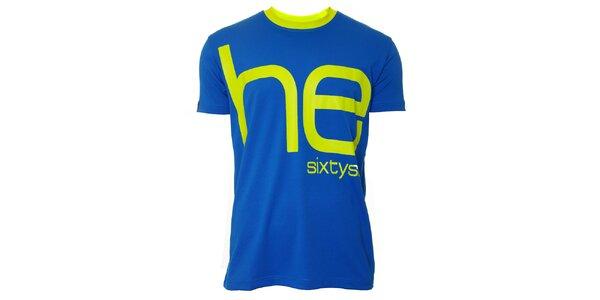 Pánske modro-žlté tričko s krátkym rukávom Head