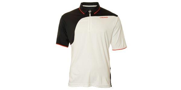 Pánske černo-biele tenisové tričko Head