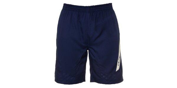Pánske modré krátke nohavice s bielymi detailami Head