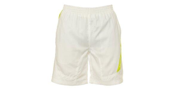 Pánske biele krátke nohavice se žltými detailami Head