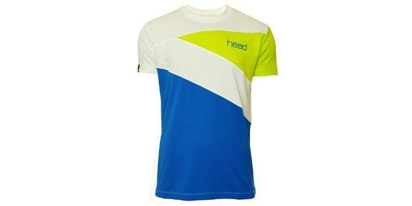 Pánske zeleno-modro-biele tričko s krátkymi rukávmi Head