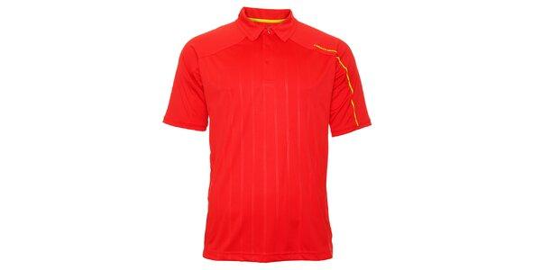 Pánske červené tričko s prúžkami Head