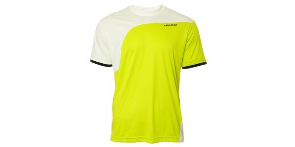 Pánske žlto-biele športové tričko Head