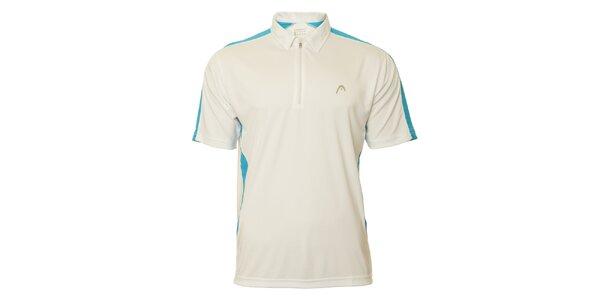 Pánske bielo-modré tenisové tričko Head