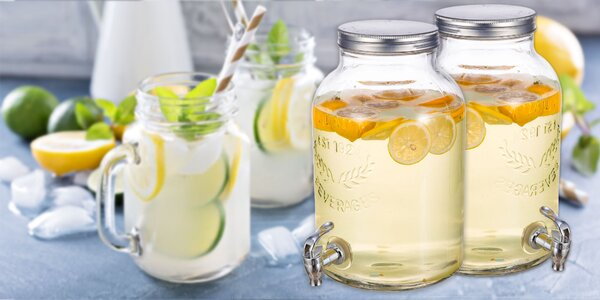RETRO párty sklenená nádoba na nápoje