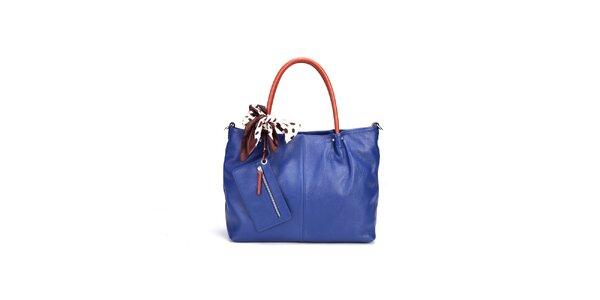 Dámska tmavo modrá kabelka Belle&Bloom s kontrastnými ušami