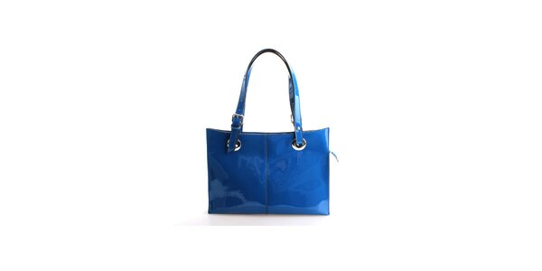 Dámska sýto modrá lakovaná kabelka Belle&Bloom