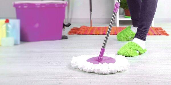Rotačný a odstredivý podlahový mop