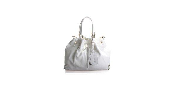 Dámska biela kožená kabelka Belle&Bloom
