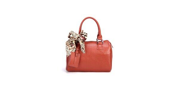 Hnedá kufríková kabelka Belle&Bloom s ozdobnou šatkou