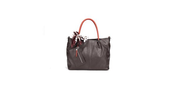 Tmavo hnedá elegantná kabelka Belle&Bloom