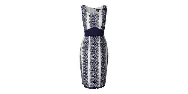 Dámske modré vzorované šaty Fever