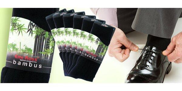 6 párov bambusových ponožiek