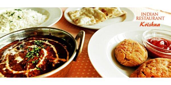 Indické menu pre dvoch